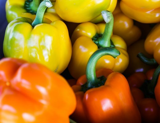 yellow and orange bell peppers