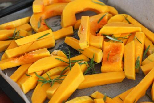 roasted yellow vegetables
